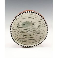 Floating  Painting by Jenny Mendes in a Ceramic Pinch Bowl