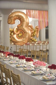 Balloon to number the tables