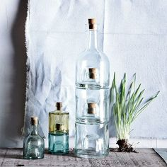 west elm Recycled-Glass Stacking Bottles