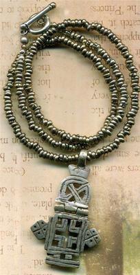Antique Pewter Coptic Ethiopian Cross