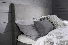 MELINA-sängynpääty 160 cm harmaa (sis. helat)
