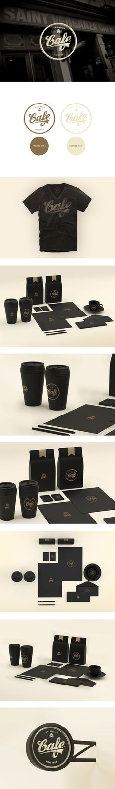 All black errthang Just plain old Old Cafe #identity #packaging #branding #marketing PD