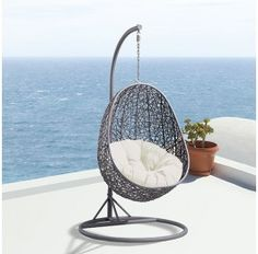 Avalon Hanging Egg Pod Chair - Outdoor Rattan Wicker