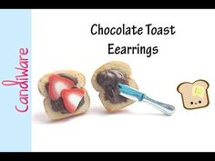 tutorial: miniature chocolate toast earrings