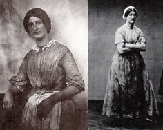 """Hanna Cullwick, maid of all work; right, Hannah """"in her dirt."""" from Victorian Working Women."""