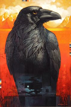 #The Raven of Jackson Lake by Craig Kosak    Animals Art multicityworldtravel.com We cover the world over Hotel and Flight Deals.We guarantee the best price