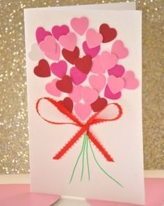 Valentine's Day is adorned with numerous craft specialties. Handmade crafts infuse Valentine's Day with a special color. Numerous easy-to-make craft … Kids Crafts, Valentine Crafts For Kids, Valentines Day Activities, Mothers Day Crafts, Craft Activities, Preschool Crafts, Holiday Crafts, Glue Crafts, Valentine Ideas