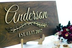 Wooden personalized sign Last Name Sign Wooden sign Custom