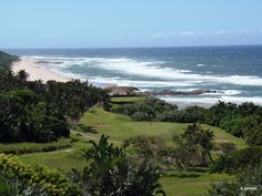 Southbroom Beach in Southbroom, KwaZulu-Natal  4th hole view over Southbroom beach from the Southbroom Golf Club