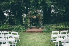 Glam garden wedding at Tryphenas Gardens  | Image by  Amber Phinisee