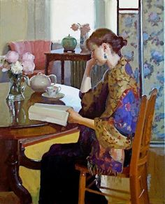 Dennis Perrin born August 26, 1950 in Topeka (Kansas), USA-Reading in the afternoon