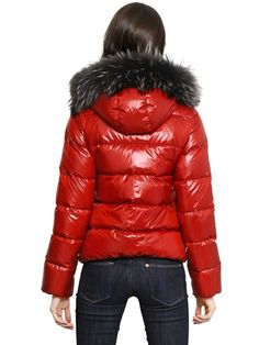 ADHARA NYLON DOWN JACKET WITH FUR