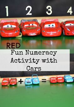 Fun math, colour and pattern activity with cars. #Math #Maths