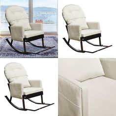 Outdoor Wicker Rocking Recliner Chair With Foot Rest Glider Patio Armchair. Patio, Garden Chairs, Rocking Chair, Relax, Furniture, Home Decor, Chair Swing, Rocking Chairs, Decoration Home
