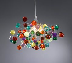 Multicolored bubbles light fixture, hanging lamp with different size of bubbles for children room or dining room. unique lighting - ALL ABOUT Chandelier Bulle, Bubble Chandelier, Hanging Chandelier, Hanging Light Fixtures, Hanging Lights, Hanging Decorations, Handmade Chandelier, Handmade Lamps, Ceiling Lamp