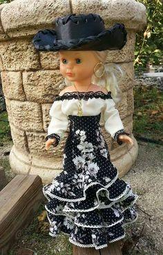 NANCY FLAMENCA .- Más Child Doll, Girl Dolls, Vestidos Nancy, Baby Frocks Designs, Nancy Doll, Doll Home, Frock Design, Wellie Wishers, Fabric Dolls