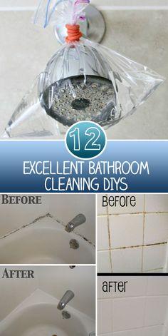 12 Excellent Bathroom Cleaning DIYs