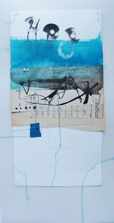 Mixed media collage by Blanca Serrano Serra