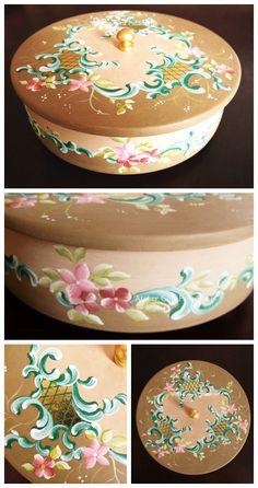 Atelier Gina Pafiadache: Caixa redonda delicada