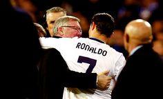 Manchester United's manager Sir Alex Ferguson (L) speaks to Real Madrid's Cristiano Ronaldo after their Champions League soccer match at Santiago Bernabeu stadium in Madrid, February (REUTERS)Real Madrid boss Jose Mourinho insisted Thursday tha Manchester United, Old Trafford, Real Madrid Cristiano Ronaldo, Sir Alex Ferguson, Soccer Match, International Football, Football Memes, Uefa Champions League, Fantasy Football