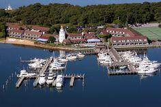 An aerial view of the Montauk Yacht Club Resort & Marina.  Credit Alex Ferrone