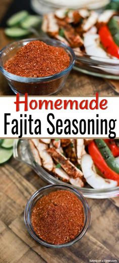 You Will Love Making Your Own Homemade Fajita Seasoning. It's Quick And Easy To Make And Will Taste Great On All Your Favorite Mexican Dinners. Making Your Own Fajita Seasoning Is Easy And Saves You Money Try Making Your Own Mexican Chicken Fajitas Today Fajita Marinade, Chicken Fajitas Seasoning, Mexican Chicken Fajitas, Chicken Fajita Rezept, Fajita Seasoning Mix, Homemade Fajita Seasoning, Beef Fajitas, Mexican Chicken Recipes, Skinny Recipes