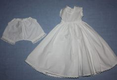 White Whole Slip and Bloomers for Bisque or Composition 1920s
