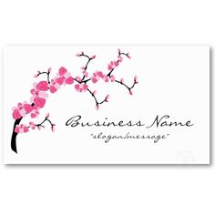 Cherry Blossom Tree Branch Business Card from http://www.zazzle.com/pretty+businesscards