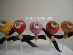 Dulces cake Pops  colores sunset