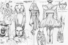 Spent three hours drawing in the Alexander McQueen retrospective show, 'Savage Beauty', at the Met yesterday. It was so much fun to sit and draw with some of his work, and it was great talking to guests and patrons about what they thought. Even...