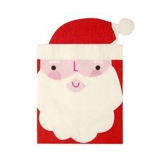 Servet Kerstman (Set van 16) , Rood