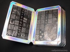 Nail Polish Society>> UberChic Beauty HOLOGRAPHIC Nail Stamp Plate Storage Folder