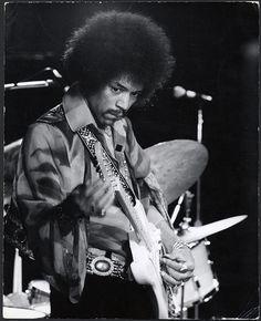 Jimi Hendrix 1968 Vintage Stamped Photograph by Jeffrey Mayer