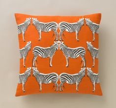 Love this fun zebra pillow