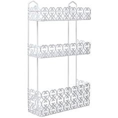 Special Offers - MyGift Decorative White Wall Mounted 3 Tier Shelf Baskets / Kitchen Spice Rack / Bathroom Product Holder - In stock & Free Shipping. You can save more money! Check It (May 03 2016 at 01:57AM) >> http://bathvanitiesusa.net/mygift-decorative-white-wall-mounted-3-tier-shelf-baskets-kitchen-spice-rack-bathroom-product-holder/