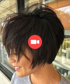Short Messy Haircuts, Messy Short Hair, Short Hair With Bangs, Short Hair Cuts, Modern Bob Hairstyles, Popular Short Hairstyles, Hairstyles With Bangs, Tousled Bob, Wavy Lob