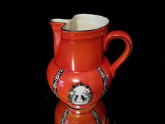 Antique Silhouette Decanter Pottery Pitcher by OldGLoriEstateSale, $98.00