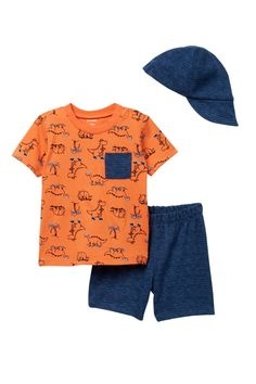 PL Baby by Petit Lem - T-Shirt, Shorts, & Cap 3-Piece Set (Baby Boys 12-24M) is now 53% off. Free Shipping on orders over $100.