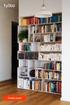 Bookshelf Inspiration, Room Inspiration, Furniture Plans, Furniture Design, Online Furniture, Home Living Room, Living Spaces, Home Library Design, Sweet Home