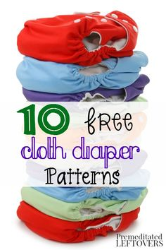 Sewing Ideas For Baby 10 Free Cloth Diaper Patterns. Save money on cloth diapers for your baby by making them yourself with one of these free cloth diaper patterns and tutorials. Reusable Diapers, Diy Diapers, Free Diapers, Preemie Diapers, Baby Sewing Projects, Sewing For Kids, Sewing Ideas, Sewing Patterns Free, Baby Patterns