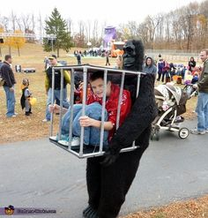 Gorilla carrying a Kid - Halloween Costume Contest via @costumeworks