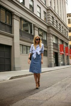Cute summer fundays....  You could get a skirt like that from goodwill and tie and old button up....