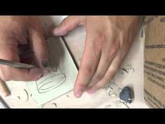 Tuesday Class Leather hard Decorating Demo - YouTube