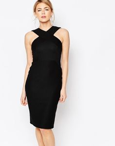 Image 1 of Oasis Cross Front Rib Tube Dress