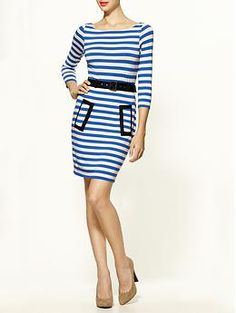 I love dresses.  just one piece to pull over your head.  this looks fresh, simple and pulled together