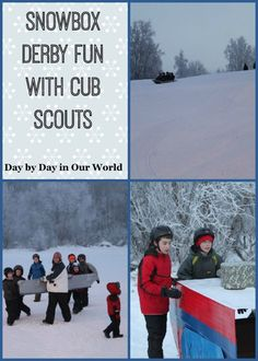 Snowbox Derby Fun with the Cub Scouts (in Alaska) featured at Day by Day in Our World