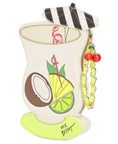 Betsey Johnson Pina Colada Wristlet $58.50 Mix it up! With its clever drink design and chain-link strap, Betsey Johnson's eye-catching wristlet ensures it's always happy hour wherever you are.