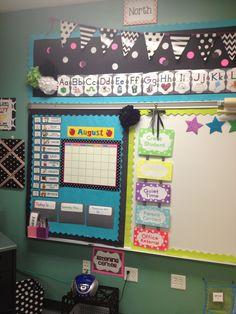 Added bulletin board above whiteboard