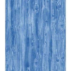 Woodgrain Textured Self Adhesive Wallpaper in Indigo design by Tempaper