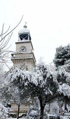 Snowy Ioannina (Epirus), Greece